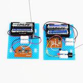2 stuks kleine Hammer diy speelgoed model draadloze telegraaf zender ontvanger module educatieve kit