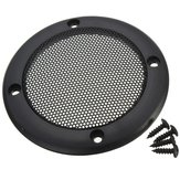 3.5 inch Black Speaker Decorative Circle With Protective Black Iron Mesh