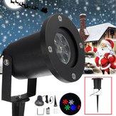 12W Su Geçirmez Colorful Kar Tanesi LED Lazer Sahne Işık Projektör Lamba Noel Outdoor için