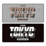 Tapis de souris FBB Extra Large Motif japonais Tokyo Tapis de clavier de jeu en caoutchouc antidérapant 900 * 400 * 4mm Tapis de protection de table de bureau pour le bureau à domicile