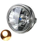 7inch 12V 35W H4 Luz do farol da motocicleta Farol da montagem traseira