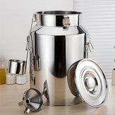 Lait en acier inoxydable de 58L (35X60cm) bidon de vin seau d'eau bidon d'huile de bidon de thé
