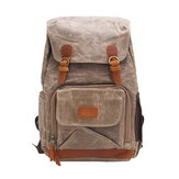 24L Outdoor Travel Vintage Waterproof Backpack Photography Camera DSLR Rucksack Shoulder Bag