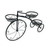 3 Tier Bicycles Plant Stand Metal Flower Pots Garden Decor Shelf Rack