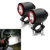 CNSUNNYLIGHT 3400LM 20 W 6000 K IP67 Motocicleta Turbo LED Faróis Flash Luz Estroboscópica