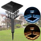 LED Solar Lights Vanntett Kolonne Headlight Lawn Lampe for utendørs hage Yard