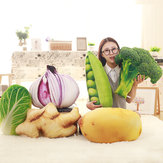 KCASA Creative Simulation Vegetable Pillow Broccoli Potatoes Chinese Cabbage Cushions Big Plant Plush Toy Pillow Cute Toys Funny Gift Sofa Seat Cushion