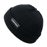 Winter Vintage Men Women Windproof Warm Knit Beanie Cap
