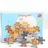 Jouets de jeux en bois empilables Jeux de blocs d'équilibrage Jouets éducatifs pour tout-petits
