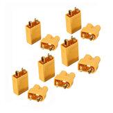 5 Coppie XT30 2mm Spina Connettore Interfaccia in Colore Oro Maschio Femmina Antiscivolo