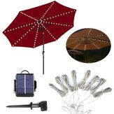 الصمام الشمسية ضوء في الهواء الطلق حديقة الباحة الجدول مظلة المظلة سلسلة الديكور ضوء