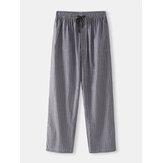 Pijama Casual de Bolso com Cordão para Homem Calças
