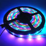 DC5V 5M SMD 5050 WS2812B  RGB 10mm Waterproof LED Strip Rope Light