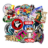 100PCS Skateboard Graffiti Stickers Waterproof For Suitcase Car Refrigerator Motorcycle Decoration