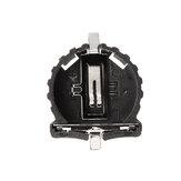 3pcs CR1220 Battery Holder Patch Button Battery Cell Sockets Case Black Plastic Housing
