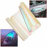 Filme matiz para farol de carro 80 x 30cm Filme de vinil para farol traseiro transparente para mudança de cor