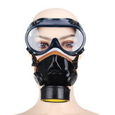 PVC Gas Mask Chemical Spray Paint Oil Smoke Dust Protection Mask with Goggles