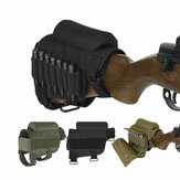 Triple Strap Adjustment Tactical Buttstock Ammo Cheek Rest Holder Outdoor Military Hunting Tactical Bag
