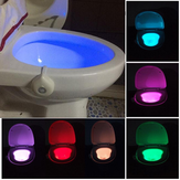 Motion Activated Toilet Night Light Bowl Kamar Mandi LED 8 Warna Lampu Lampu Sensor
