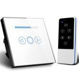 MAKEGOOD 110-240V 500W Smart Home EU-Dimmschalter Kristallglas Drahtlose Fernbedienung Lichtdimmschalter HF-Schalter 220V