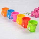 Honanaportátildobráveldesílicagel 5 opções de cores titular escova de dentes copo de viagem beber copo de lavagem