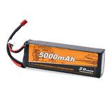 ZDレーシング11.1V 5000mAh 35C 3S LipoバッテリーT Plug 9116 9020 9021 08426 08427 1/8 1/10 RC車両車モデル