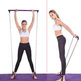 Barra di Pilates multifunzionale Yoga Pull Rod Gym portatile con resistenza Banda per allenamento Idoneità a espansione toracica