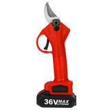 36V 25mm Cordless Electric Pruning Shears 13000mAh Rechargeable Branch Scissor Cutter with Plastic Tool Box