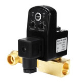AC 110V 1/2 Inch 2-way Drain Valve Electronic Timed Air Compressor Condensate Auto Pressure Switch