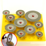 10pcs 16-40mm Diamond Cutting Disc Set Mini Drills Cut Off Wheel Saw Blade For Rotary Tool