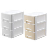 3 Layers Office Desk Storage Box File Cabinet Desktop Organizer Cosmetic Makeup Storage Case Drawers Home Bedroom Bedside Nightstand