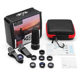 Apexel APL-T10XDG9 10 in 1 Telescope Wide Angle Marco Flow CPL Star Lens for Mobile Phone Tablet