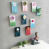 22.5x11.5cm Village Board Painted Flower Creative Wall Bedroom Plants Pendant Haning Decorations