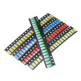 1000 قطع 5 ألوان 200 كل 5730 LED ديود تشكيلة smd LED ديود كيت أخضر / أحمر / أبيض / أزرق / أصفر