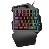 HXSJ V100 Controlador de teclado para jogos de mão única para PUBG Mobile Video Game
