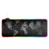 RGB Magic USB Wired Mouse Pad LED Karte Leuchtende Mausmatte Gummi Leuchtende einseitige Anti-Rutsch-Matte
