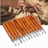 12Pcs Wood Carving Wood Working Hand Chisel Set Professional Lathe Gouges Tool