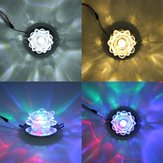 Modern 3W Crystal LED Lotus Ceiling Light Fixture Flush Mounted Lamp for Aisle Hallway