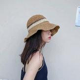 Women Outdoor Foldable Adjustable Straw Hat