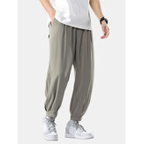 Original              Mens Casual Loose Thin Solid Color Casual Drawstring Elastic Waist Pants
