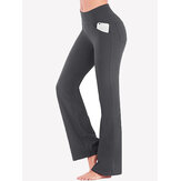 Couleur unie High Wasit Femmes Casual Sport Yoga Pantalon