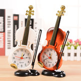 Honana Vintage Unique Small Expert Mini Violin Alarm Clock Office Home Decor Handmade Craft