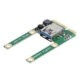 Laptop Mini PCI-E - USB3.0 adapter kártya Mini PCI kibővített USB interfész félmagasságú, teljes magasságú bővítőkártya