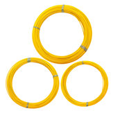 6mm x 70/100/150m Fiberglass Cable Puller Wire Fish Tape Conduit Duct Rodder Yellow