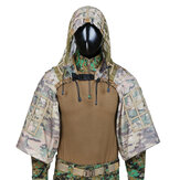 TTGTACTICAL GH28 CP Camouflage Militaire Sniper Ghillie Suit Foundation Chasse Extérieure Tactique Airsoft Sniper Ghillie Veste