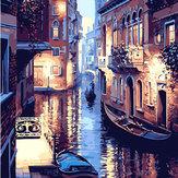 40X50CM Không khung Thế giới nước của Venice Canvas Canvas Canvas Canvas Vẽ tranh Tự làm bằng số
