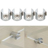 4pcs Shelves Support Brackets Clamp For Glass Wooden  Acrylic Shelves Hold 6-10 mm
