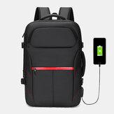 الرجال متعددة الوظائف الكبيرة سعة 15.6 بوصة حقيبة لاب توب مع USB شحن حقيبة عمل الأعمال على ظهره