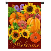 12,5 '' x 18 '' Kwiat dyni Welcome Autumn Fall Garden Flag Yard Banner Decor Decorations