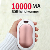 Bakeey 4-In-1 10000mAh USB Rechargeable Electric Hand Warmer Power Bank Fast Charging For iPhone 12 Pro Max Mini With Vibration Massage LED Flashlight